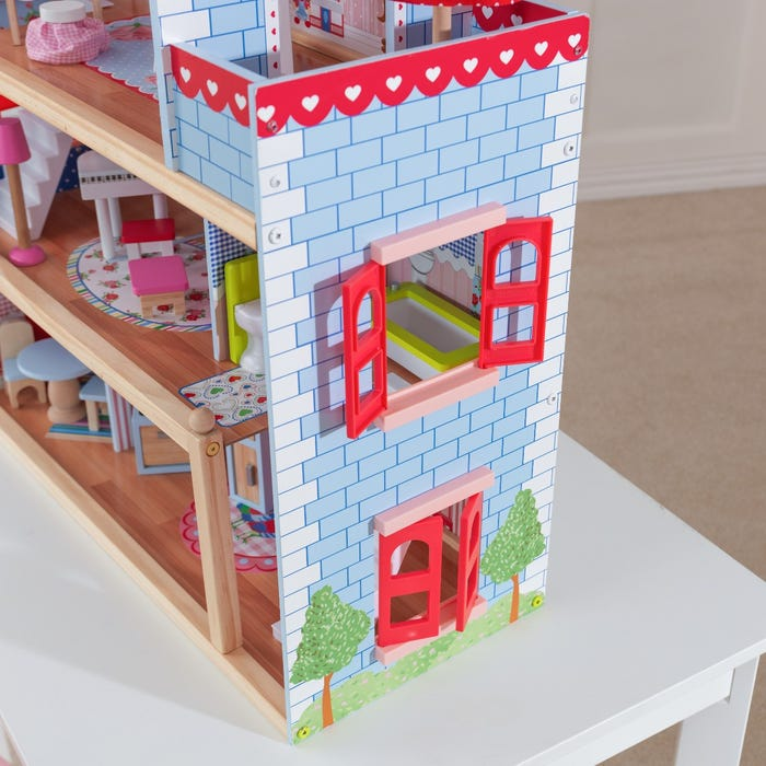 KidKraft Chelsea Doll Cottage For Girls | Windows Open and Close!