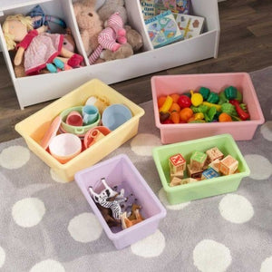 Wall Storage Unit with Bins | Toy Box City