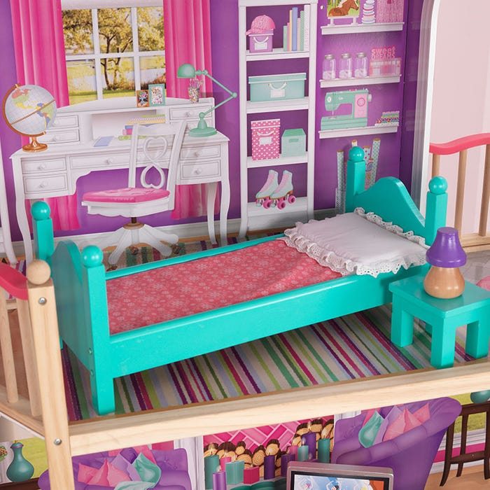 KidKraft 18 Inch Dollhouse Doll Manor | Big Dollhouse for Girls