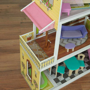 KidKraft Florence Dollhouse | Two Balconies and Four Rooms