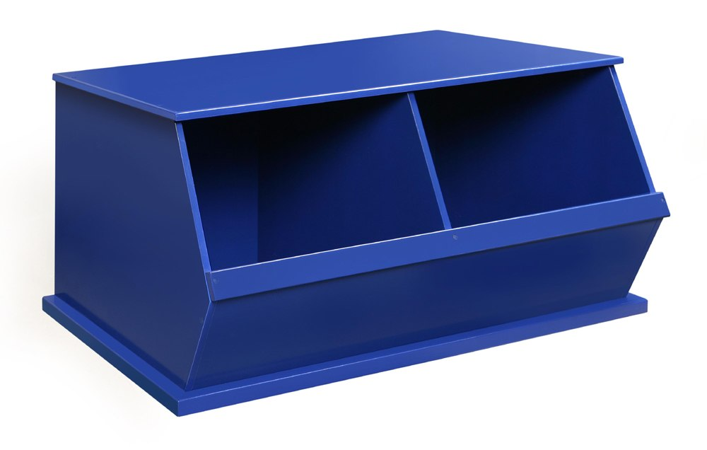 Badger Double Stackable Storage Cubbies - Blue | Toy Box City