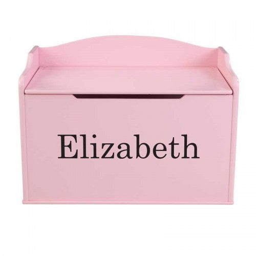 Personalized Pink Austin Toy Box | Toy Box City