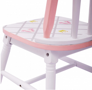Swan Princess Lake Set of 2 Chairs | Pink and White Girls Kids Chairs