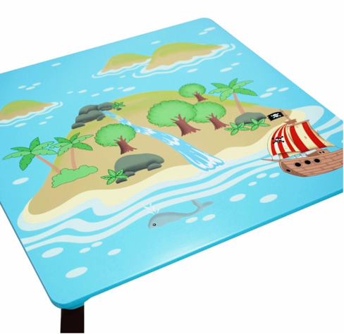 Pirate Island Table & Set of 2 Chairs | Kids Pirate Table and Chair Set