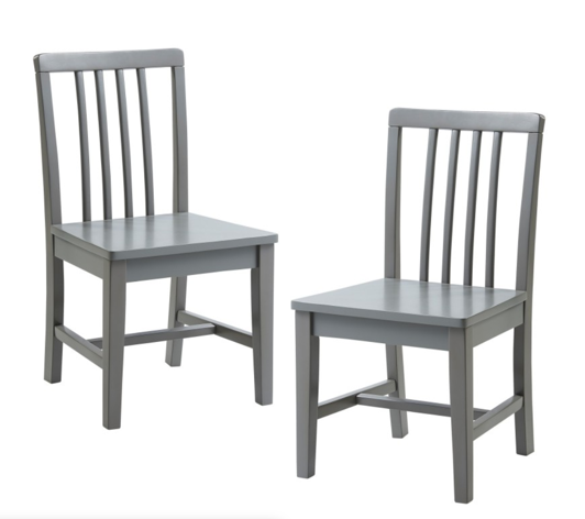 Grey Kids Set Of 2 Chairs | Basic