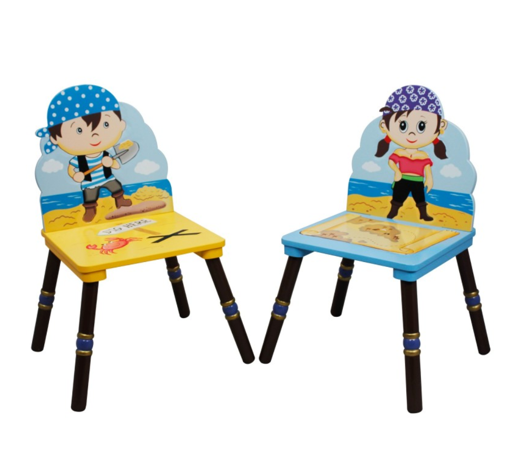 Pirate Island Set of 2 Chairs | Pirates Map and More!