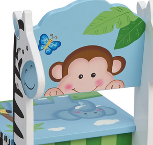 Sunny Safari Set of 2 Chairs | Kids Jungle Chairs with Animals