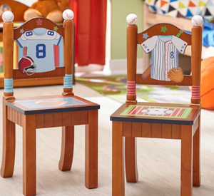 Sports Fan of 2 Chair Set | Baseball kids Chairs