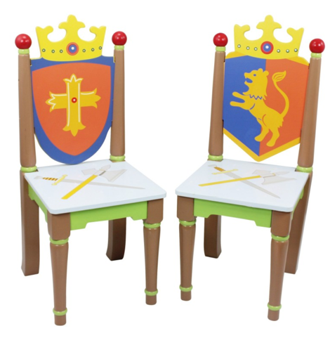 Knights & Dragons Kids 2 Chairs Set