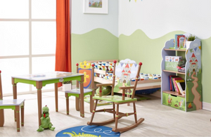 Knights & Dragons Kids Table and 2 Chairs Set