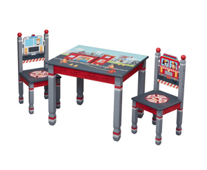 Kids Little Fire Fighters Table and Set of 2 Chairs