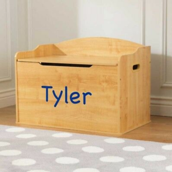 Personalized Austin Toy Box - Natural Wooden Look