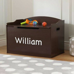 Personalized Austin Toy Box in Espresso by Kidkraft