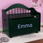 Personalized Limited Edition Toy Chest in Black from Kidkraft