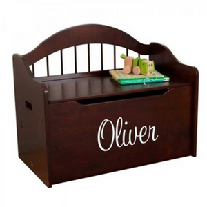 Personalized Limited Edition Espresso Toy Chest by Kidkraft for Kids