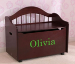 Limited Edition Personalized Toy Chest in Cherry by Kidkraft for Kids