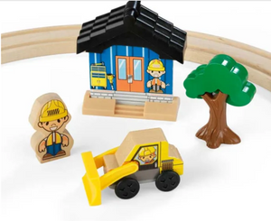 Small Wooden Truck and Tractor Set | 8 Pack