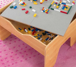 2 in 1 Activity Lego Table Natural with Board for Kids by Kidkraft