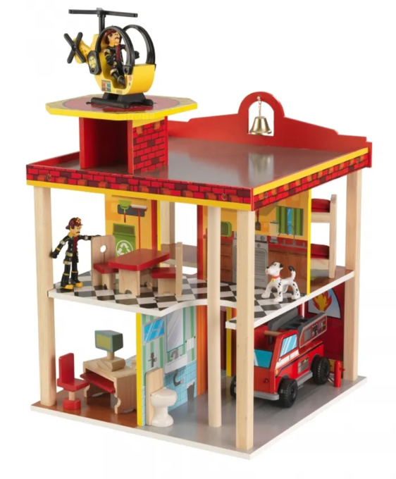 Kids Fire Station Toys, Figurine and Play Set by Kidkraft