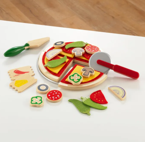 Kids Pizza Play Set with Food by Kidkraft