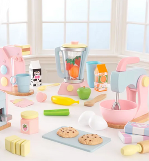 Pastel Toy Smoothie Set with Vegetables for Kids