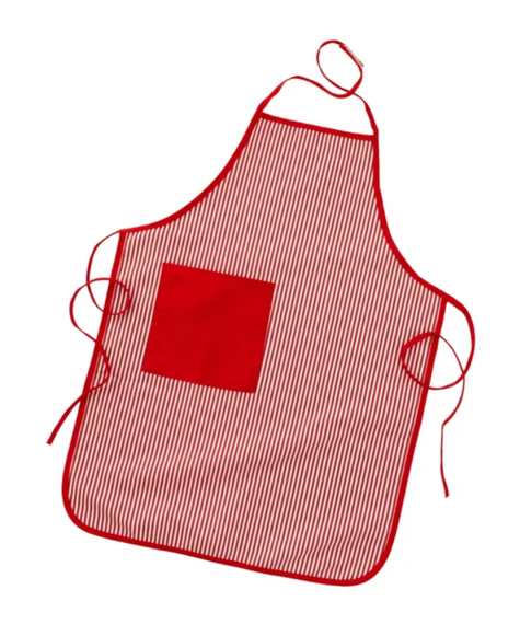 Tasty Treats Chef Play Uniform Set with Apron and Chef Hat in Red
