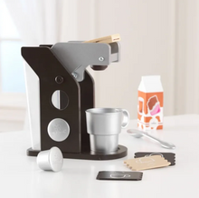 Espresso Coffee Toy Set for Kids in Brown