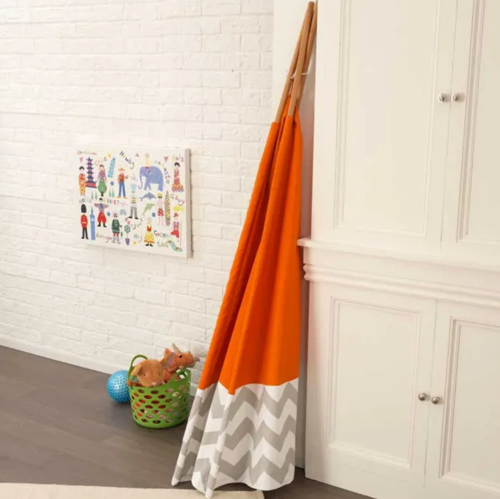 Deluxe Kids Play Teepee in Orange