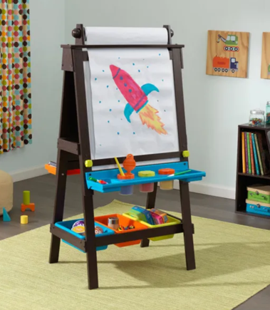 Storage Easel for Kids - Espresso | By Kidkraft