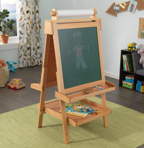 Large Deluxe Wooden Easel - Natural Light Brown | By Kidkraft
