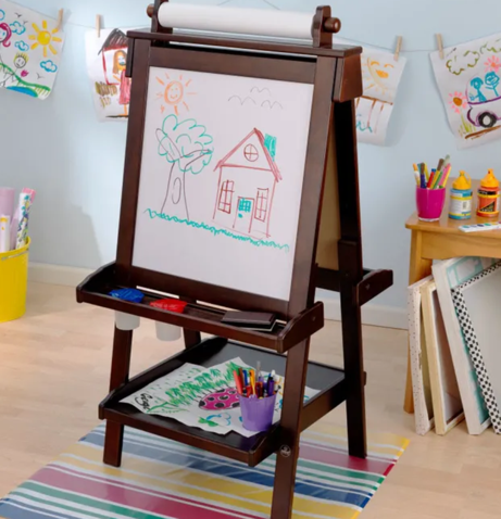 Large Deluxe Wooden Easel - Espresso | By Kidkraft