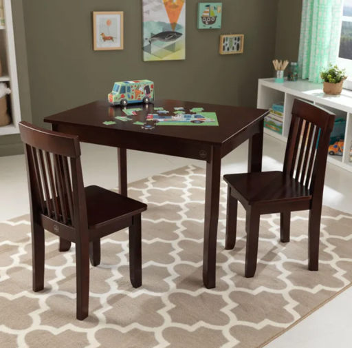 Avalon Kids Table 2 and Chairs  in Espresso by Kidkraft
