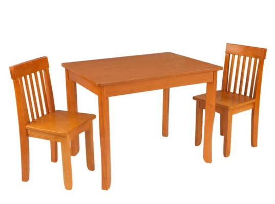 Avalon Kids Table 2 and Chairs in Honey Brown by Kidkraft