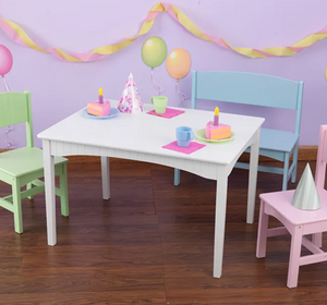 Nantucket Childrens Table with Bench in Pastel by Kidkraft