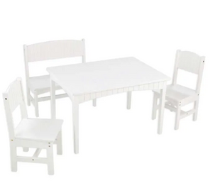 Nantucket Childrens Table with Bench in White by Kidkraft