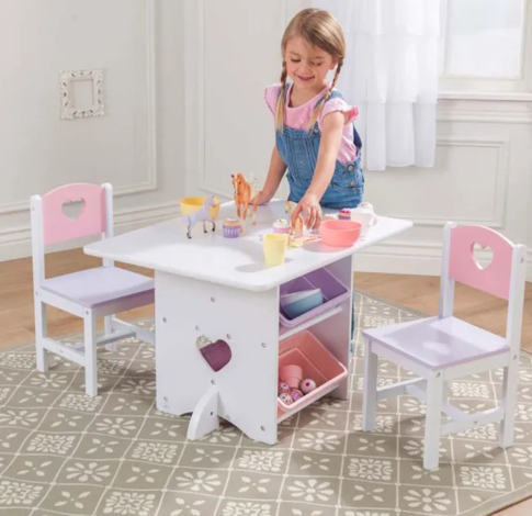 Heart kids table with Chairs by Kidkraft