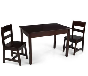 Rectangle Kids Table and 2 Chairs in Espresso by Kidkraft