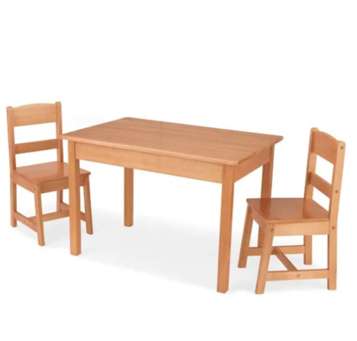 Rectangle Kids Table and 2 Chairs in Natural Wood by Kidkraft
