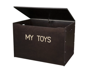 Big Toy Box - Wooden & Personalized - in Espresso