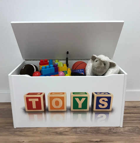 Personalized Wooden Toy Boxes for Kids – Toy Box City