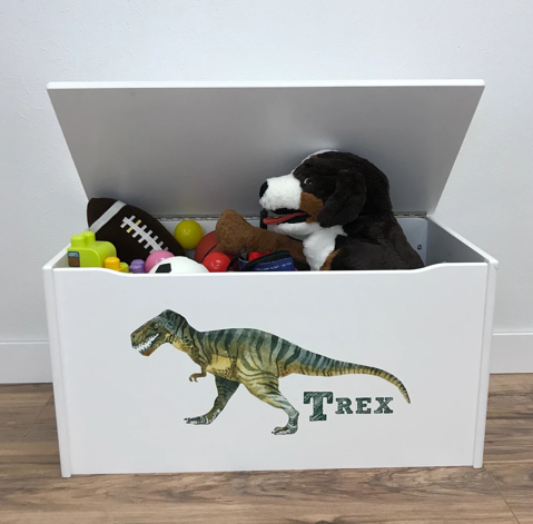 T Rex Dinosaur Boys Toy Box for Toddlers