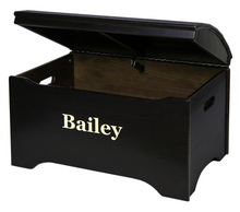 Solid Wood Captain's Chest - Personalized - Espresso Brown