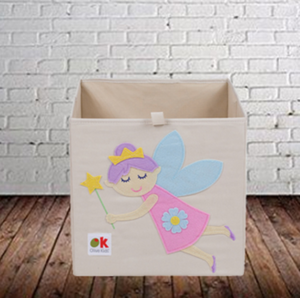 Kids 13x13x13 Inches Storage Cube in Polyester - Felt Fairy