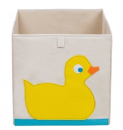 Kids 13x13x13 Inches Storage Cube in Polyester - Felt Duck
