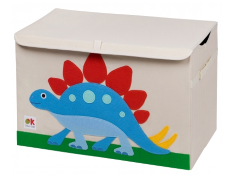 Kids 24x15x14 Inches Storage Chest in Polyester - Dinosaur Stegosaurus