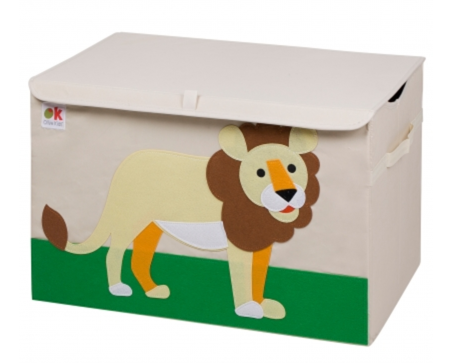 Kids 24x15x14 Inches Storage Chest in Polyester - Lion Felt