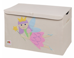 Kids 24x15x14 Inches Storage Chest in Polyester - Princess Fairy Felt