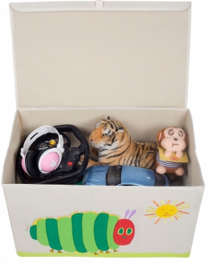 Kids 24x15x14 Inches Storage Chest in Polyester - The Hungry Caterpillar Felt