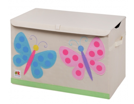 Kids 24x15x14 Inches Storage Chest in Polyester - Felt Butterflies