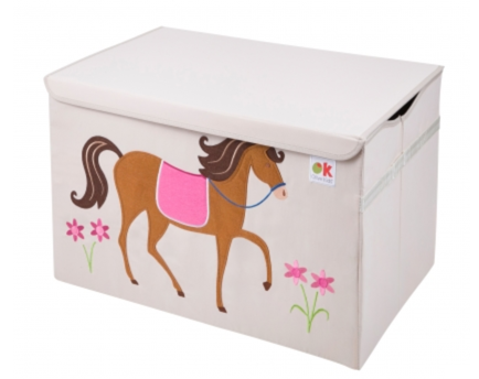 Kids 24x15x14 Inches Storage Chest in Polyester - Felt Horse